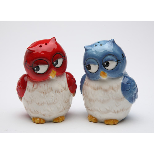 Cosmos Gifts Couple Owls Salt and Pepper Set