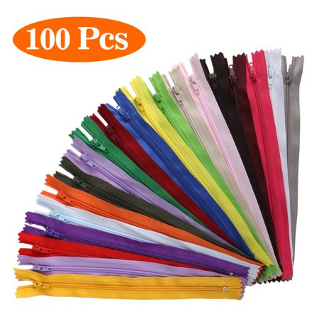100PCS 20cm Mixed Zippers Bulk Nylon Coil Zippers for Sewing Crafts, 20 Colors (Assorted Sizes) 3 Nylon Zipper