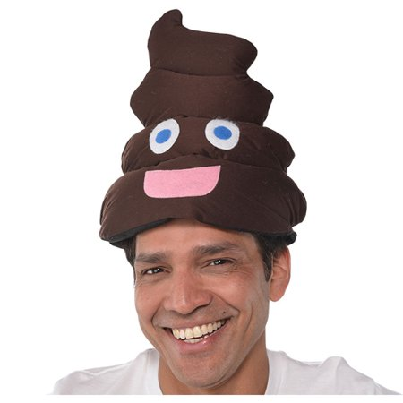 Halloween Poop Emoji Adult Plush Hat (1ct)