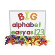 Excellerations Giant Foam Magnetic Alphabet Letters and Numbers, 114 Pieces, Educational, Preschool, Language, Kids Toys (Item # BIGALPHA)