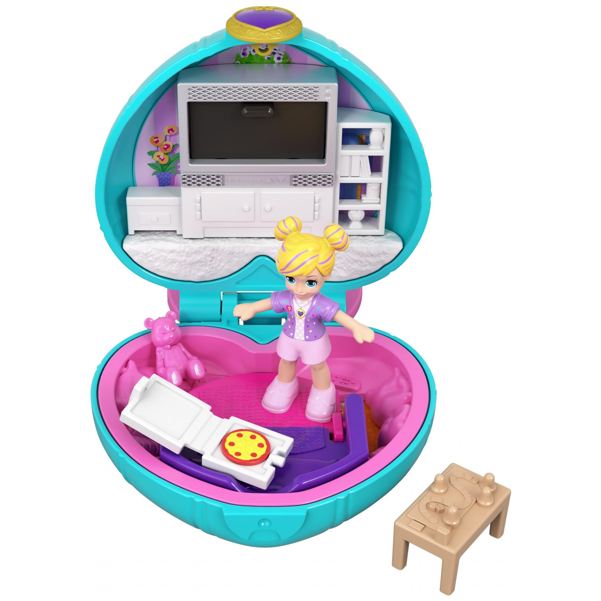Polly Pocket Tiny Pocket Places Polly Sleepover Compact with Doll