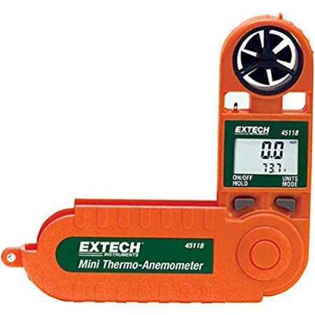 Extech 45118 Mini Waterproof Thermo Anemometer (Mini Thermo Anemometer)