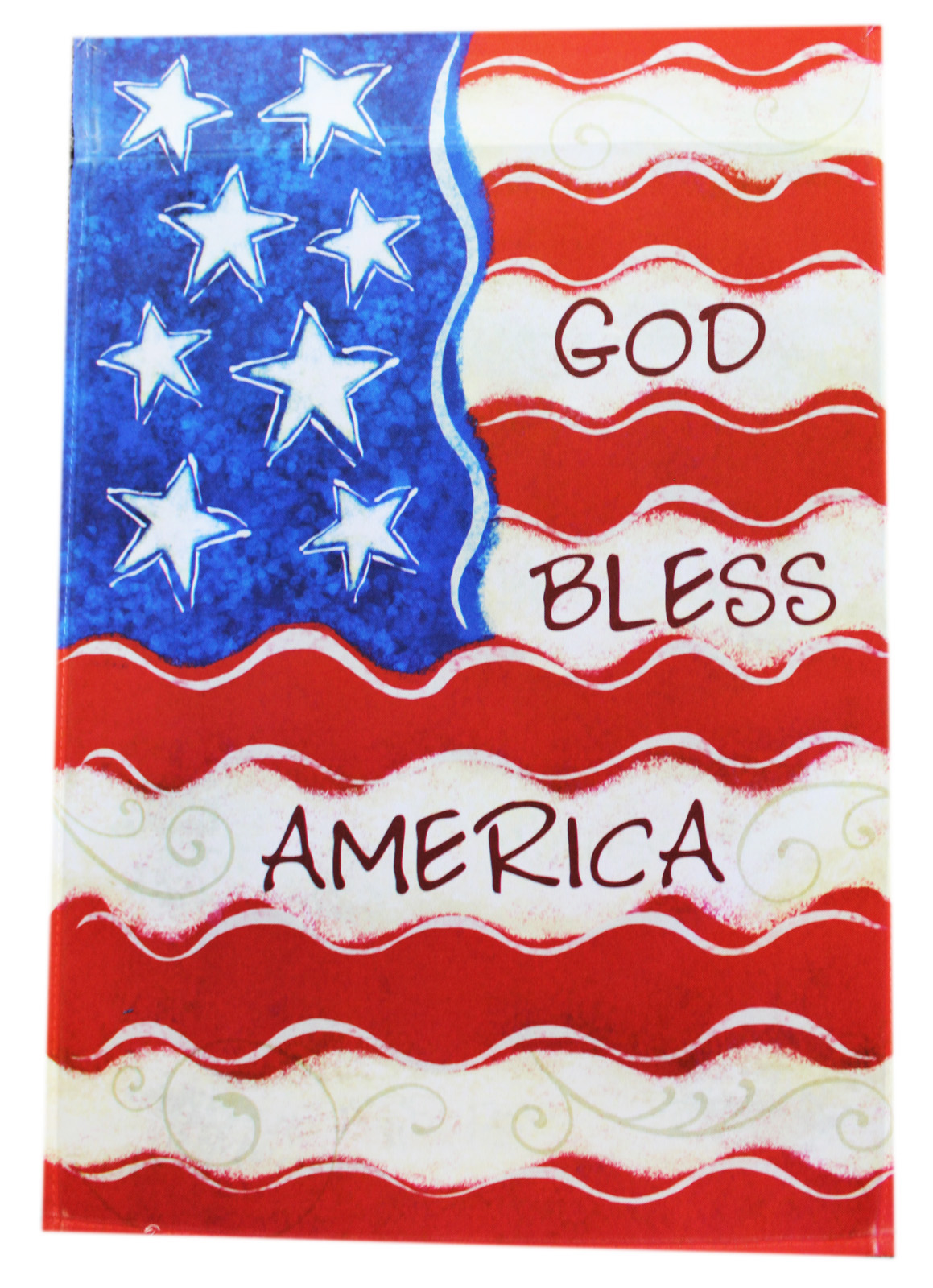 Garden Accents God Bless America Garden Flag By Ganz (No Stand) by