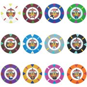"""""""Rock & Roll 13.5 Gram Poker Chips Sample Pack 12 Chips"""" by BryBelly"""