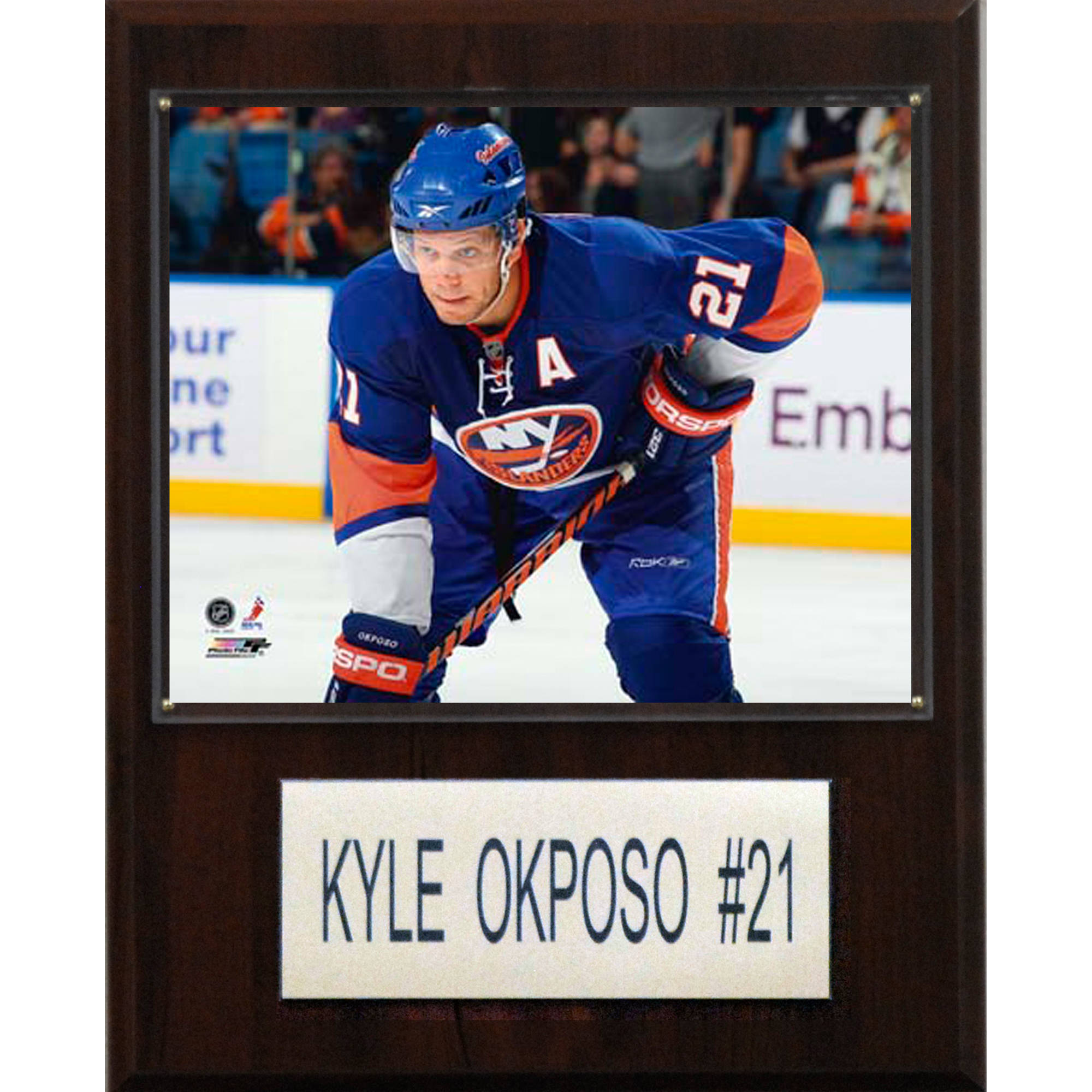 C&I Collectables NHL 12x15 Kyle Okposo New York Islanders Player Plaque