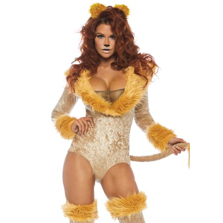 Leg Avenue Women's 3 PC Lion Costume, Brown, - Women Lion Costumes