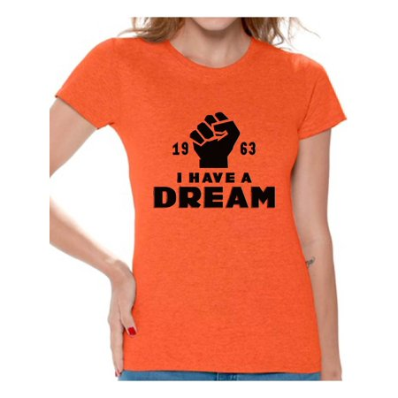 Awkward Styles Women's Martin Luther King Graphic T-shirt Tops I Have a Dream Shirt 1963