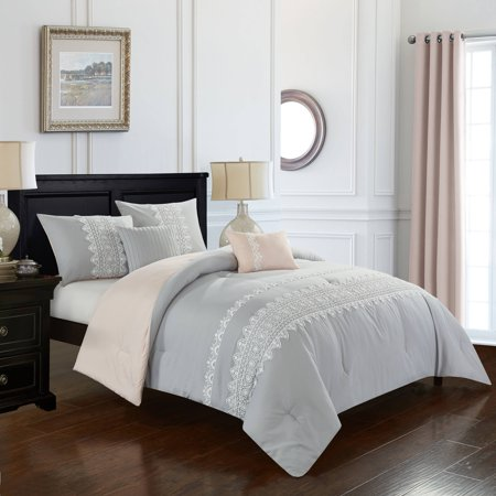 Better Homes & Gardens Lace Stripe Comforter Set, (Lace Twin Set)