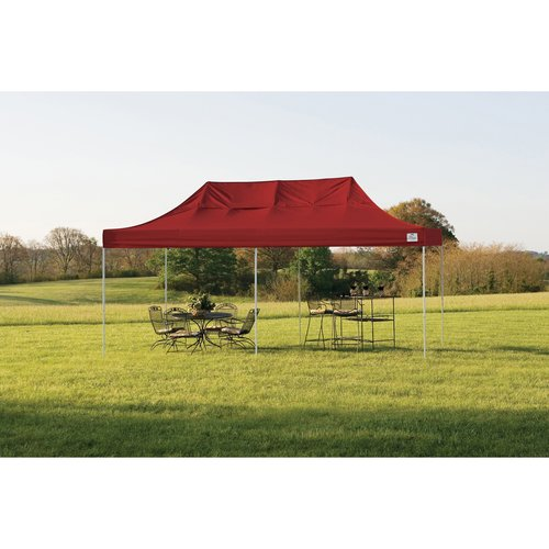 10' x 20' Pro Pop-up Canopy Straight Leg, Red Cover by ShelterLogic
