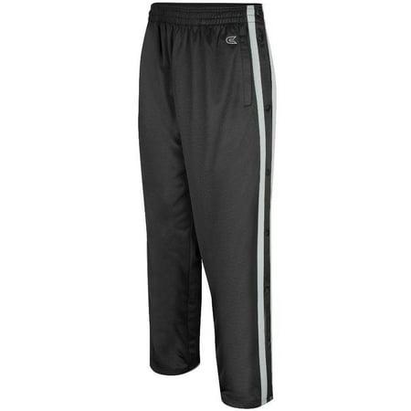 Colosseum Basketball Shorts (Mens Tearaway Athletic Pants (Black/Silver))