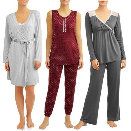 fe2e290ade75d Maternity Nurture by Lamaze Sleepwear Collection - Walmart.com