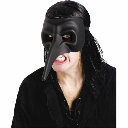 Venetian Raven Black Mask Adult Halloween Costume Accessory