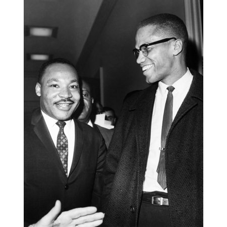 King And Malcolm X 1964 Ndr Martin Luther King Jr (Left) American Cleric And Civil Rights Leader Photographed With American Religious And Political Leader Malcolm X At The Capitol In Washington DC
