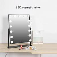 Anauto LED Bulbs Mirror,15LEDs Hollywood Style Dimmable Table Bulbs Vanity Makeup Mirror Lights USB Powered 110-240V US, USB LED Light Mirror
