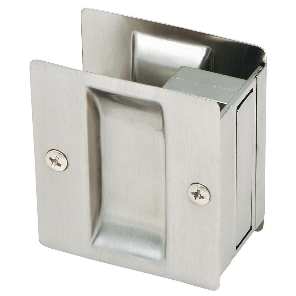 Design House 202812 Rectangular Pocket Door Passage, Satin Nickel