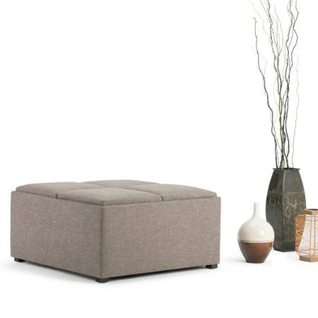 Simpli Home Avalon Coffee Table Storage Ottoman With 4
