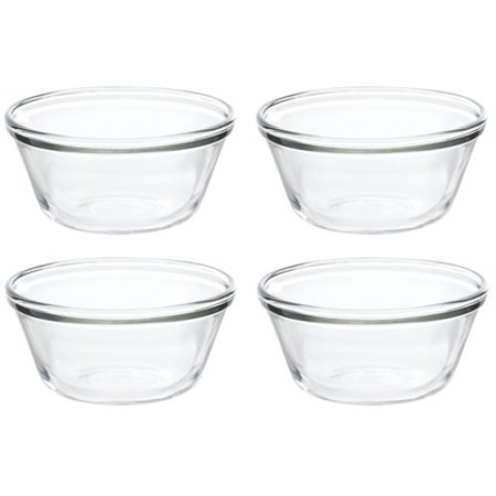 Anchor Hocking Essentials Glass 6 Oz. Clear Custard Cup, 4 Piece