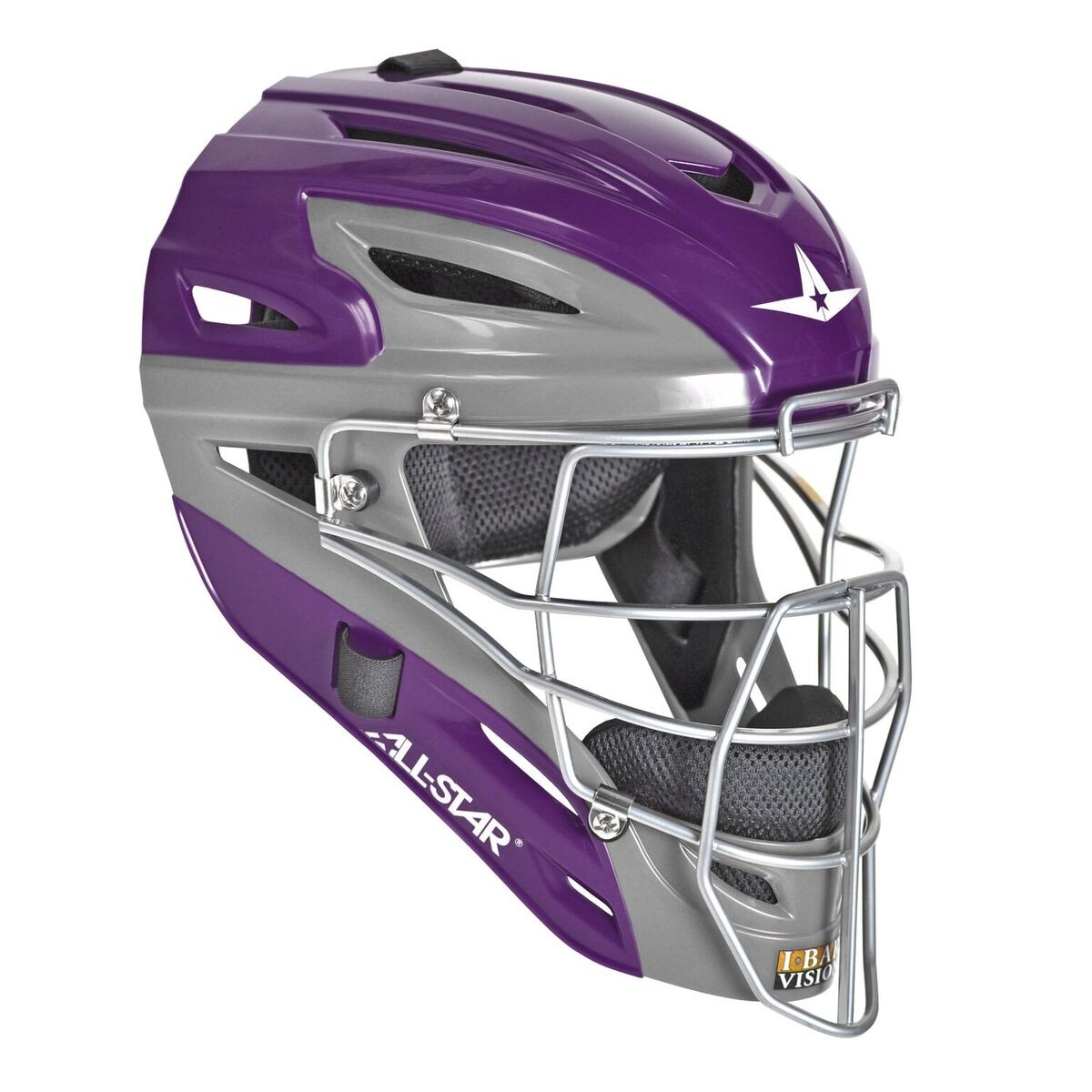 All Star MVP2500GTT Graphite Two Tone Catchers Helmet Purple