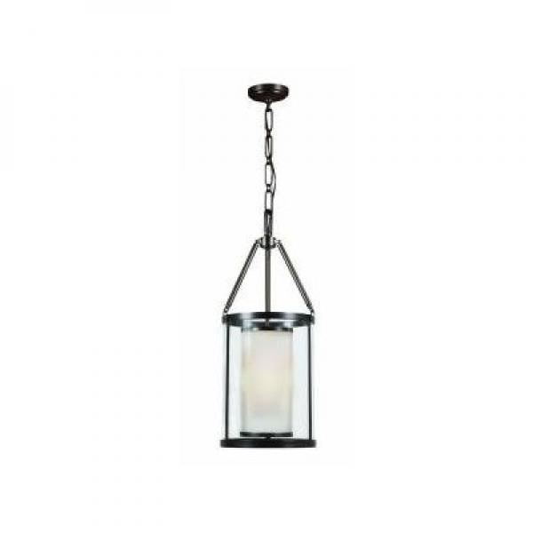 Hampton Bay 3-Light 27.25 in. Rheno Bronze Foyer Pendant by
