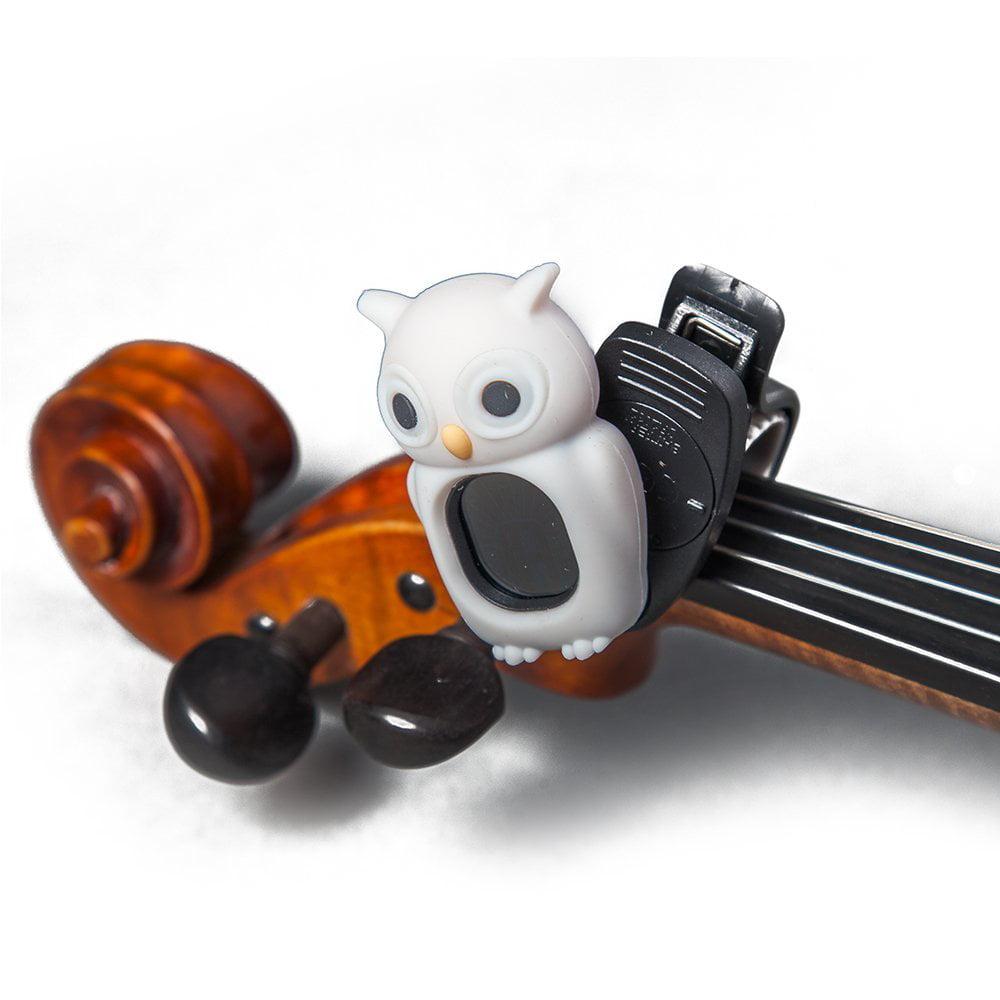 SWIFF Digital Chromatic Guitar Bass Violin Ukulele Carton Tuner w Battery (White Owl)