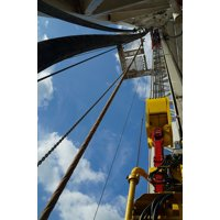 Canvas Print Gas Drilling Rig Oil Rig Stretched Canvas 10 x 14