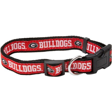 Bulldog Nock Collar (Pets First College Georgia Bulldogs Pet Collar, 3 Sizes Available, Sports Fan Dog Collar)