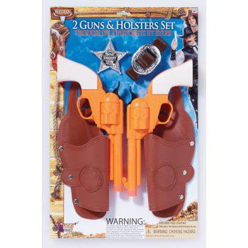 Novelty Gun (DOUBLE HOLSTER/GUN SET W/BADGE )