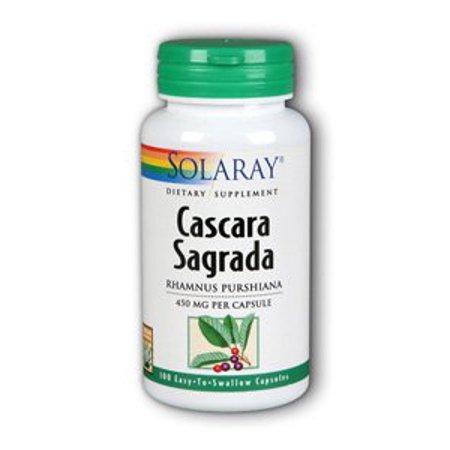Cascara Sagrada 450mg Solaray 100 Caps Cascara Sagrada 100 Tab