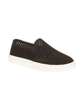 Time and Tru Women's Perforated Twin Gore Slip-On Sneaker