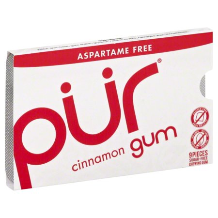Action Candy Pur Chewing Gum, 9 ea