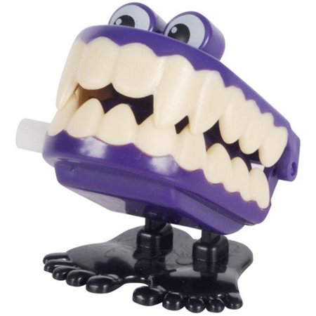 Veil Entertainment Jumping Vampire Teeth Halloween Wind-Up Toy, Assorted - Vampire Teeth For Sale
