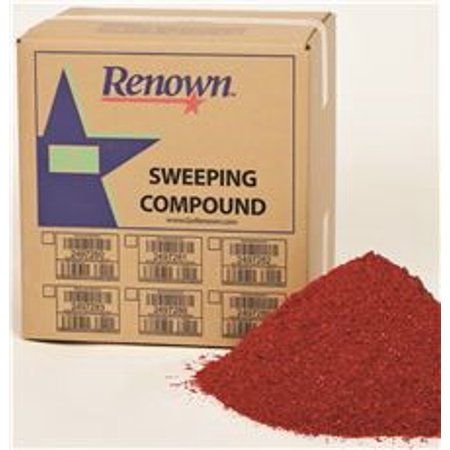 Grit Oil Base Sweeping Compound - RENOWN SWEEPING COMPOUND OIL BASE NO GRIT 50 LB. BOX RED