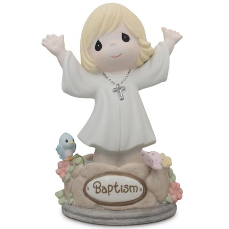Porcelain Little Girl Figurine - Girl Immersed in God's Love Porcelain Communion Figurine 5.5 Inches
