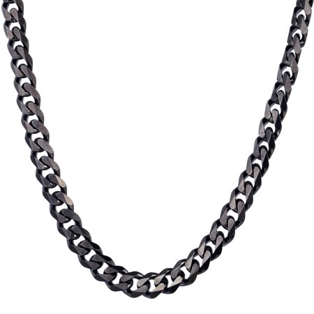 Hermah 11mm Boys Mens Chain Jewelry Curb Link Stainless Steel Necklace 20-24inch (Boys Link)