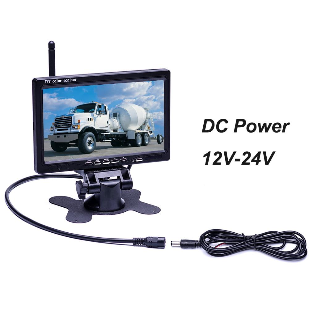 Podofo Wireless Waterproof Vehicle 2 x Backup Camera Kit DC 12V 24V ...