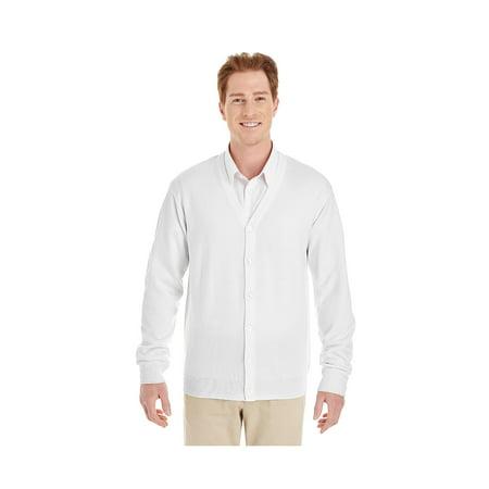 Mens Classic V-neck Sweater - Harriton Men's Pilbloc™ V-Neck Button Cardigan Sweater, Style M425