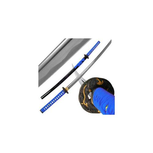 Katana with Blue Dragon Tsuba and Scabbard - 40 inch