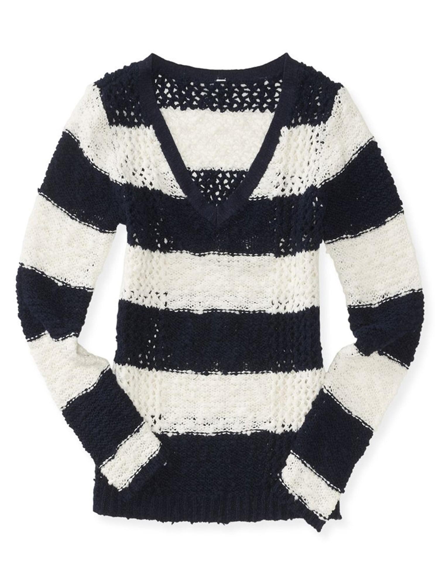f6fdd18718 Aeropostale Juniors Colorblock Knit Sweater 404 Xs - Juniors
