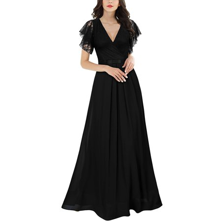 - Women's Long Chiffon Formal Evening Party Dresses Bridesmaid Dress Cocktail Prom Gown