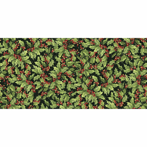 """Springs Creative Christmas Packed Holly, Green, 43/44"""" Wide, Fabric By the Yard"""