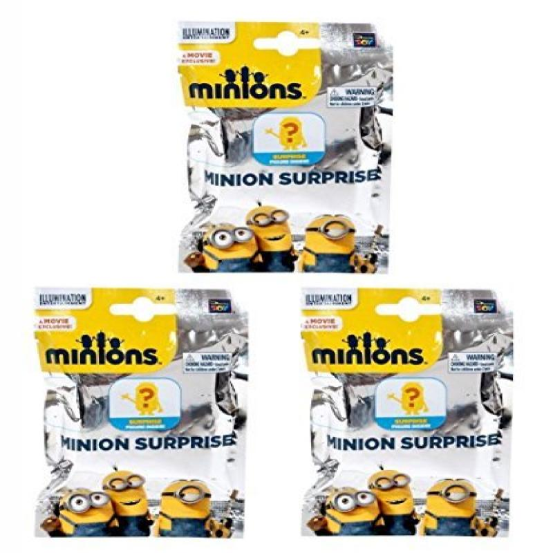 Minions Movie Minion Surprise Mini Figure Mystery Pack of 3 by
