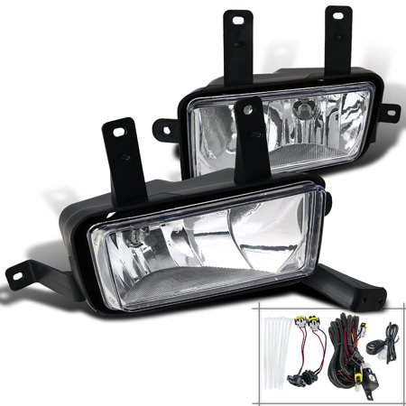 Chrome Polished Bulbs (Spec-D Tuning For 2015-2018 Chevy Suburban Tahoe Clear Lens Style Fog Lights W/Switch + Bulbs 2015 2016 2017 (Left+Right))