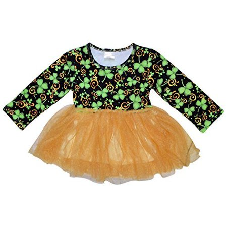 Unique Baby Girls St Patrick's Day Luck of the Irish Tutu Dress (18m/S, Green) - St Patrick's Day Dress