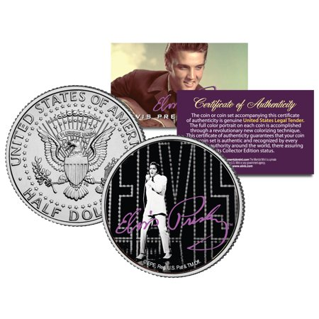 Elvis Presley  Comeback  Jfk Kennedy Half Dollar Us Coin  Licensed