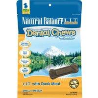 Natural Balance Dental Chews L.I.T. Limited Ingredient Treats Duck Meal Formula Dog Treats, 13-Ounce