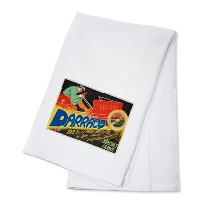 Darracq Vintage Poster  Artist  Thor  France C  1906  100  Cotton Kitchen Towel