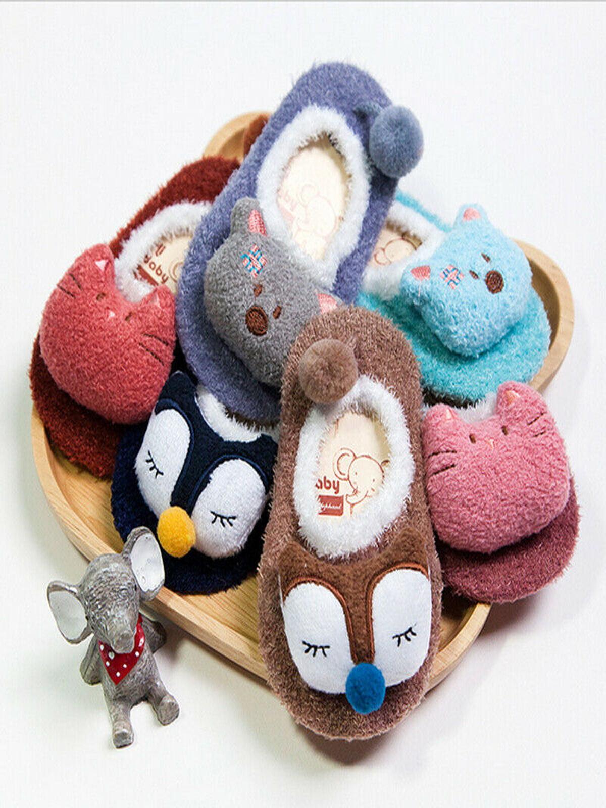 Cute Baby Girl Boy Anti-slip Socks Cartoon Newborn Slipper Shoes Boots 0-5 Years