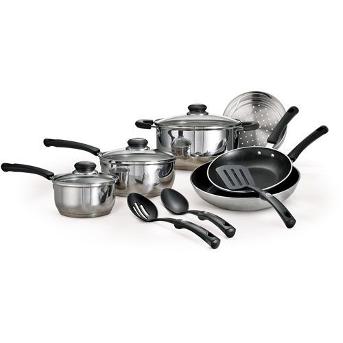 Tramontina 12-Piece Everyday Stainless Steel Cookware Set