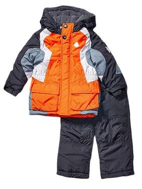 London Fog Boys Heavy Weight Jacket (Coat) Snow Pants Orange 7