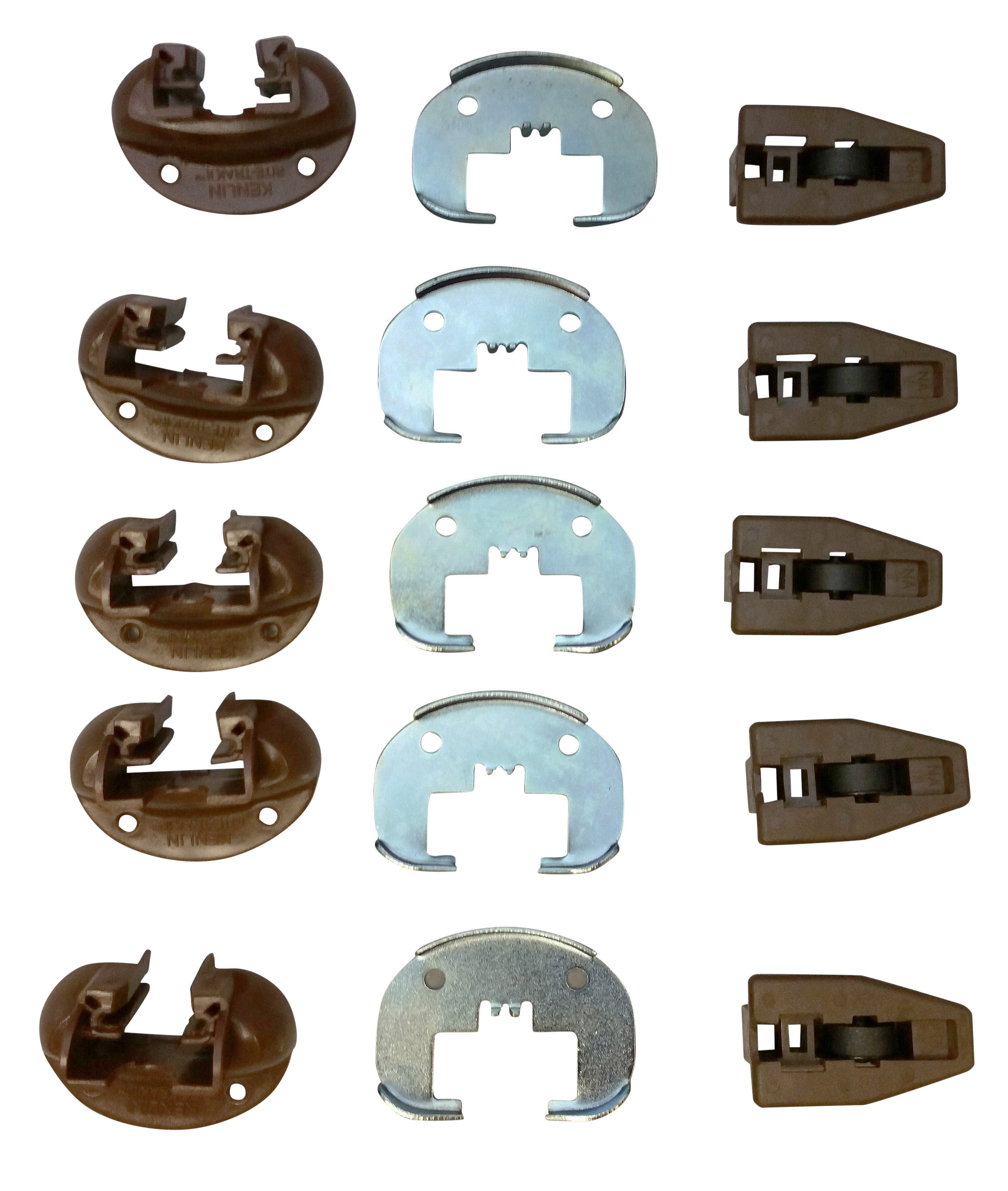 5 Sets Kenlin Rite Trak I Replacement Drawer Guides with Metal Backing Plates